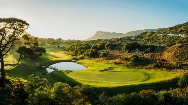 Clovelly golfbana i Kapstaden, Sydafrika